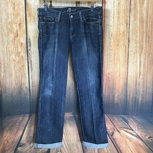 7 For All Mankind Colette Cuffed Straight Leg